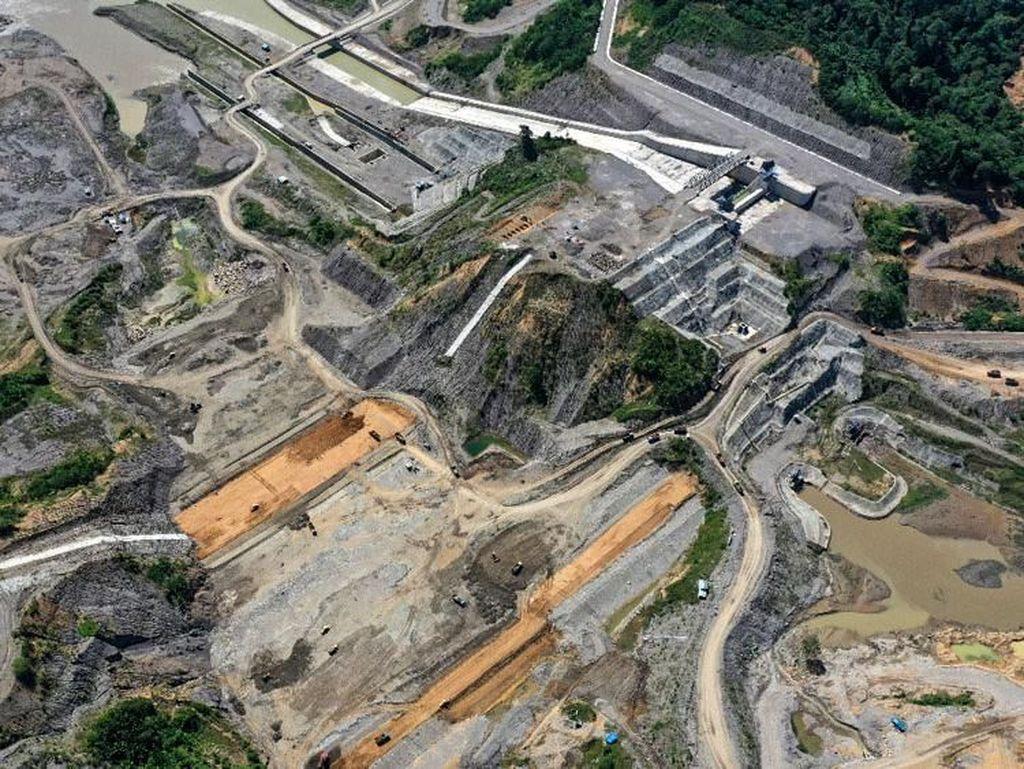 Melihat Proyek Bendungan Pencegah Banjir di Aceh dari Udara