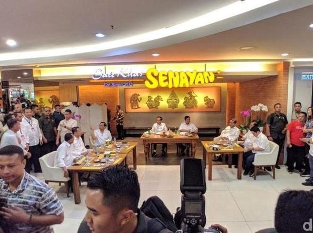 Makan Siang Bersama, Jokowi-Prabowo Nikmati Sate Ayam dan Sate Kambing