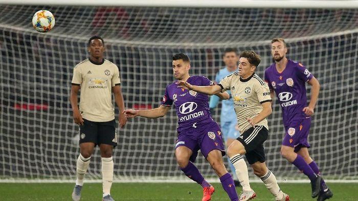 Manchester United mengalahkan Perth Glory 2-0 di laga pertama pramusim. (Foto: Paul Kane / Getty Images)