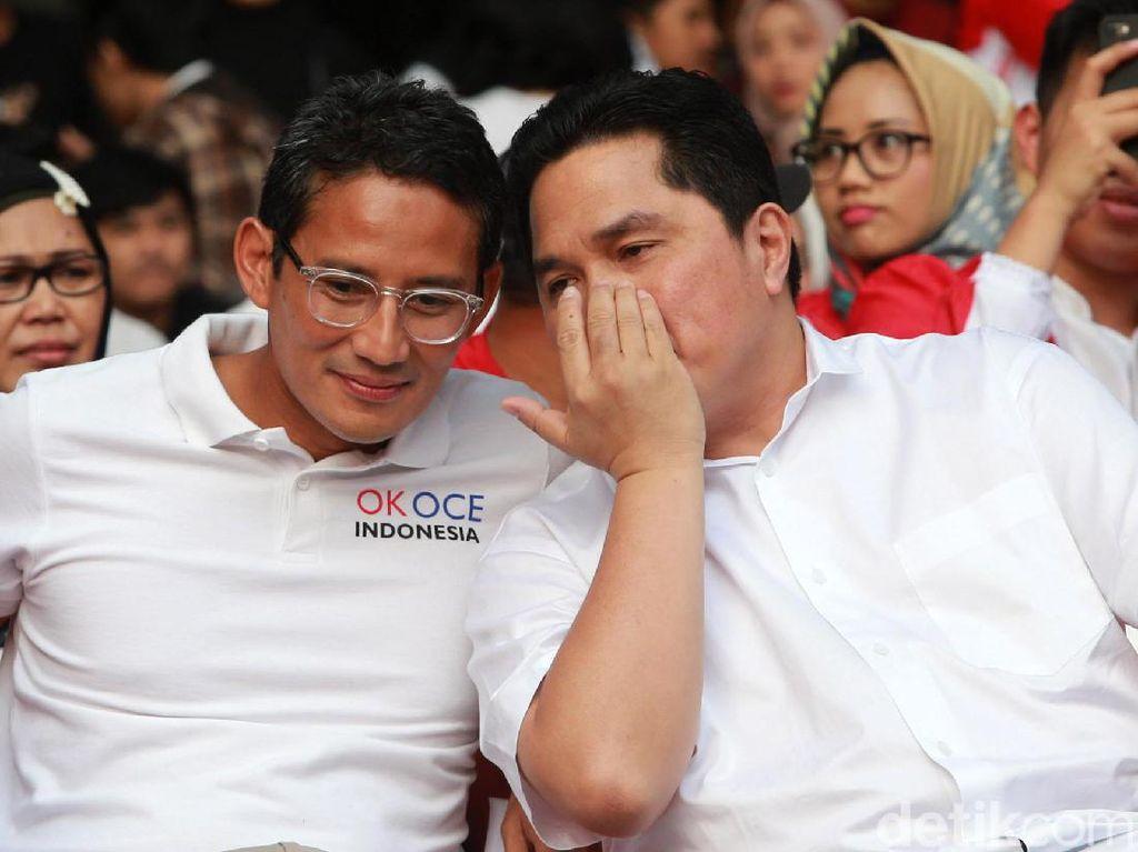 Sandiaga Uno Ingatkan Erick Thohir Utang BUMN Tinggi