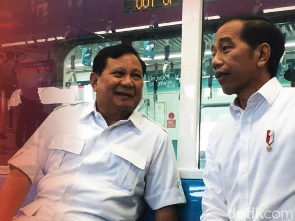 Jokowi-Prabowo Ketemu di MRT Lebak Bulus Terlihat di Ilustrasi Ini