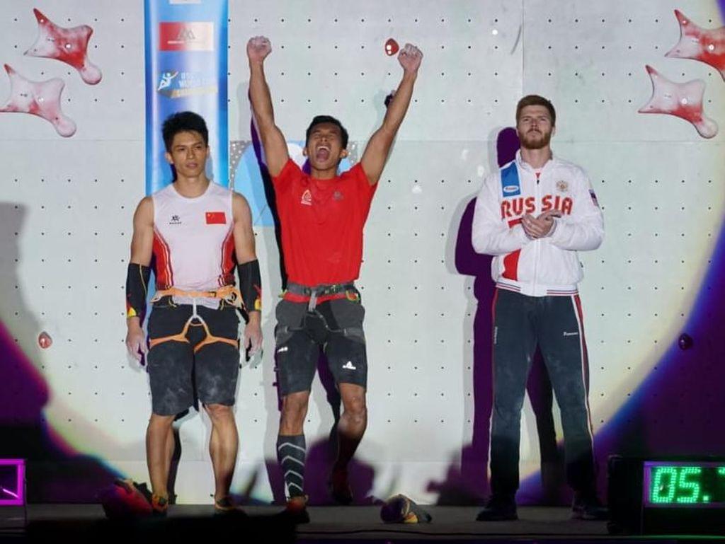 Alfian M Fajri Juara Panjat Tebing di Prancis