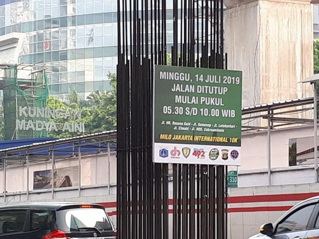 Jl HR Rasuna Said Ditutup Besok Terkait Lomba Maraton, Ini Rekayasa Lalinnya