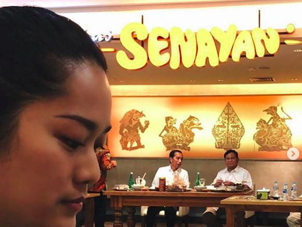 Prisia Nasution Grogi Makan Dilihatin Jokowi dan Prabowo