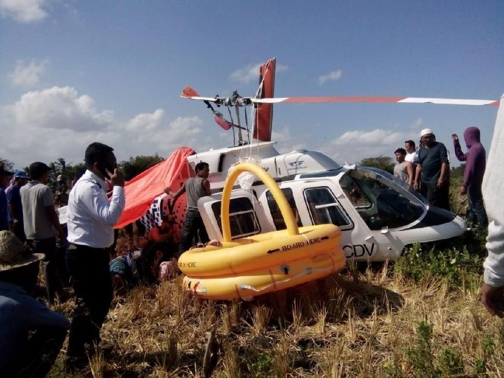 Ini Penyebab Helikopter Angkut 3 Bule Jatuh di Dekat Bandara Lombok