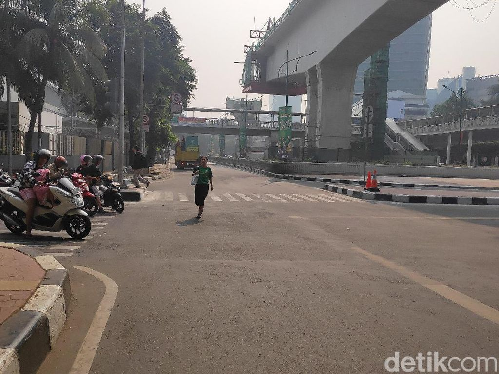 Lomba Maraton Usai, Lalin Jalan HR Rasuna Said Kembali Dibuka