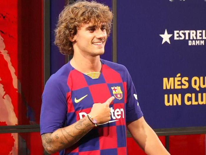 Skema permainan seperti apa yang akan diperagakan Barcelona setelah Antoine Griezmann datang? (AFPTV)