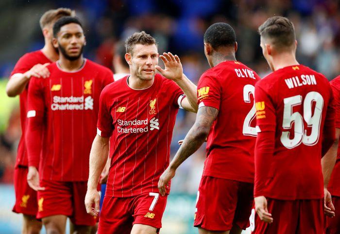 Liverpool meraih kemenangan keduanya di laga uji coba pramusim. The Reds menang 3-1 atas Bradford City. Reuters/Jason Cairnduff.