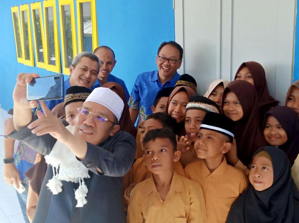 Gedung Sekolah Baru di Lombok Utara Usai Gempa