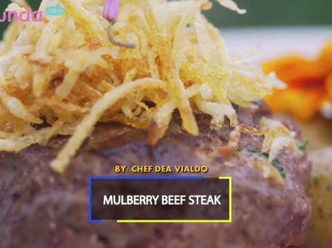 Resep Mulberry Beef Steak, Dagingnya Juicy dan Menggugah Selera