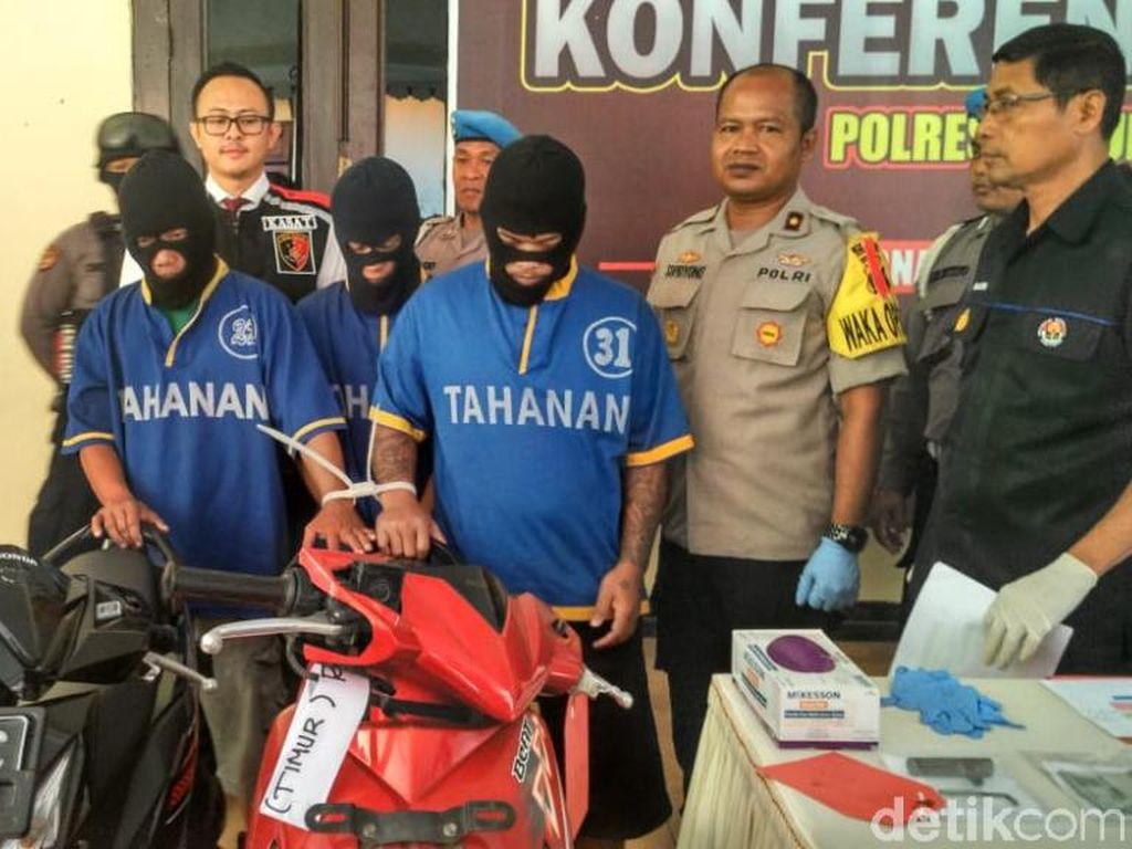 Tiga Pencuri Motor Spesialis Teras Rumah di Pasuruan Tertangkap
