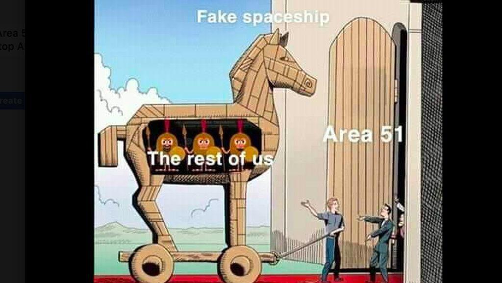 Ragam Strategi Konyol Netizen untuk Kuasai Area 51