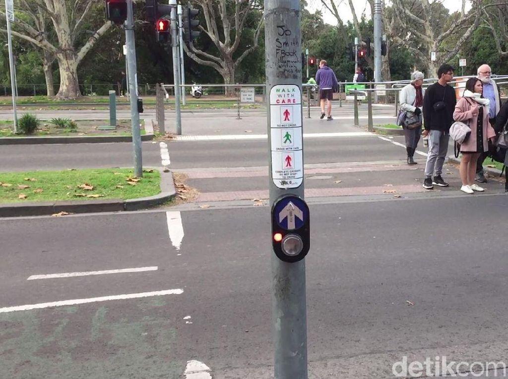 Foto: Cara Menyeberang Jalan yang Aman di Australia