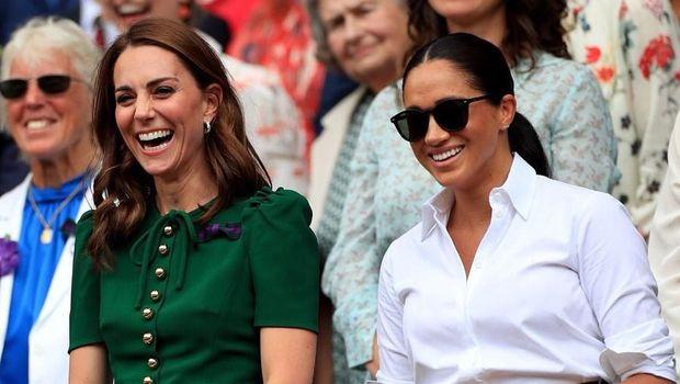 Meghan Markle dan Kate Middleton di Wimbledon 2019/
