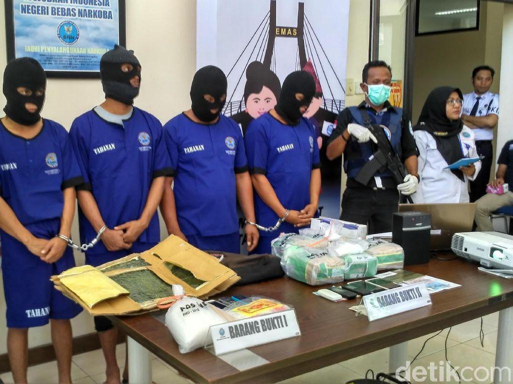 4 Kurir Narkoba di Babel Ditangkap, 6 Kg Sabu Disita
