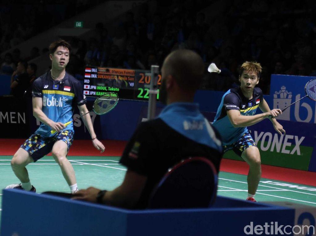 Kevin/Marcus Menang, Indonesia Sementara Loloskan 6 Wakil ke Babak II Indonesia Open