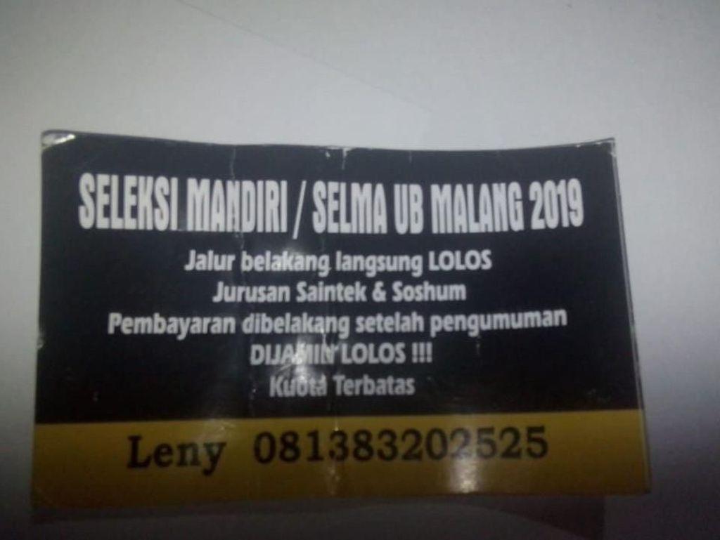 Ada Stiker Tawaran Lolos Jalur Mandiri Universitas Brawijaya, Ini Faktanya