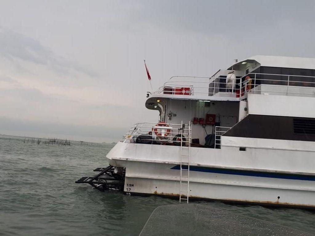 40 Penumpang Kapal Singapura yang Kandas di Bintan Dievakuasi