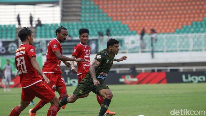 Persija Jakarta tak didukung The Jakmania di Staidon Pakansari Cibinong. (Rifkianto Nugroho/detikSport)