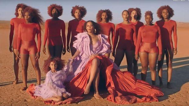 Aksi Putri Beyonce di Video Klip Soundtrack 'The Lion King'