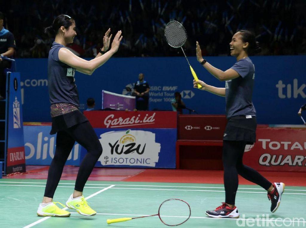 Della/Rizki Amankan Posisi di Babak Kedua Indonesia Open 2019
