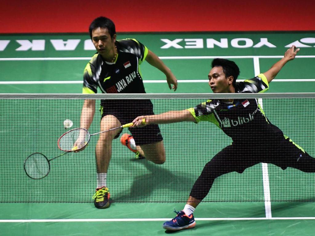 Hendra/Ahsan dan Della/Rizki Lolos Babak Kedua Indonesia Open
