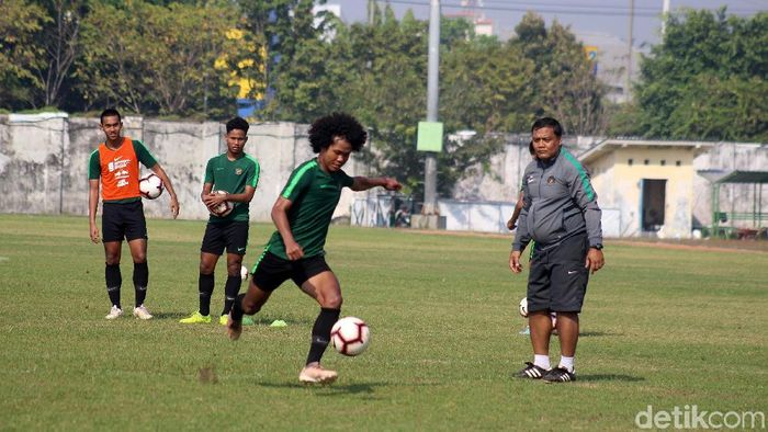 Timnas Indonesia U-19 berlatih di Sidoarjo. (Suparno/detikSport)