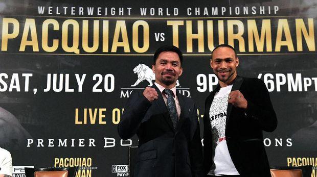 Pacquiao bersiap bentrok dengan Thurman di tinju kelas welter.