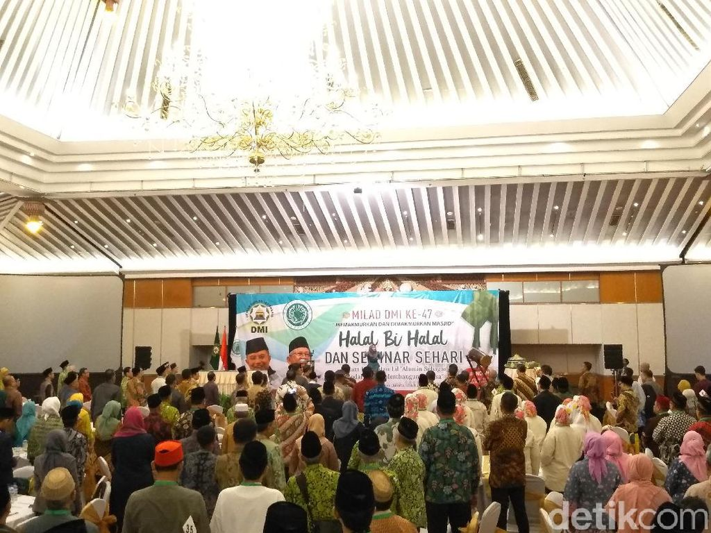JK-Maruf Amin Hadiri Halalbihalal DMI