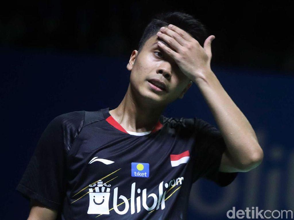 Langkah Ginting Terhenti di 16 Besar Indonesia Open