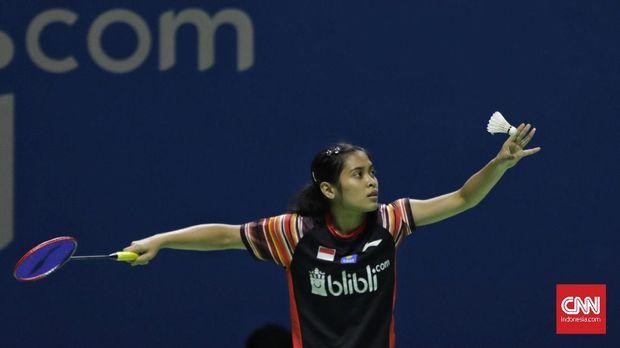 Gregoria Mariska Tunjung buka kemenangan Indonesia atas Filipina.