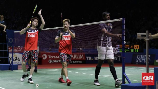 Kevin/Marcus jadi wakil kedua dari Indonesia setelah Ahsan/Hendra yang ke semifinal Indonesia Open 2019.