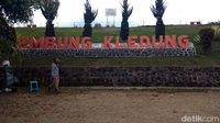 Papan nama Embung Kledung (Eko Susanto/detikcom)