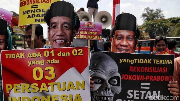 Jokowi Hingga Prabowo Ikut Aksi Dukung Persatuan Indonesia