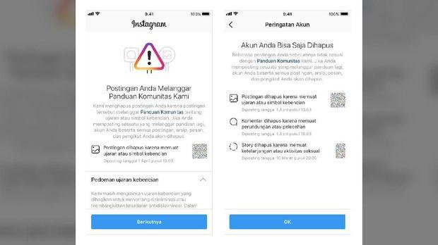 Instagram Bisa Hapus Akun yang Berulangkali Langgar Aturan
