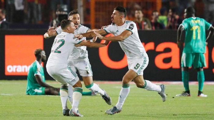 Aljazair juara Piala Afrika 2019 setelah mengalahkan Senegal 1-0. (Foto: Mohamed Abd El Ghany/Reuters)
