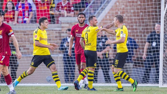 Borussia Dortmund kalahkan Liverpool 3-2 (Trevor Ruszkowski/Reuters)