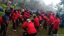 Kejari Madiun Raya Peringati Hari Adhyaksa ke-59 di Gunung Lawu