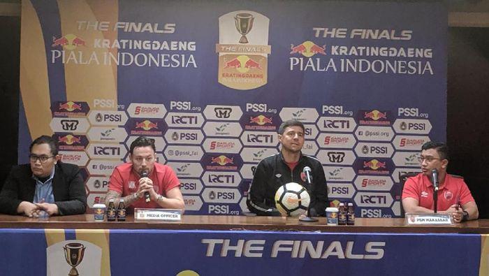Gelandang PSM Marc Klok berjanji mengantarkan timnya juara Piala Indonesia 2018 (Foto: Putra Rusdi Kurniawan / detiksport)