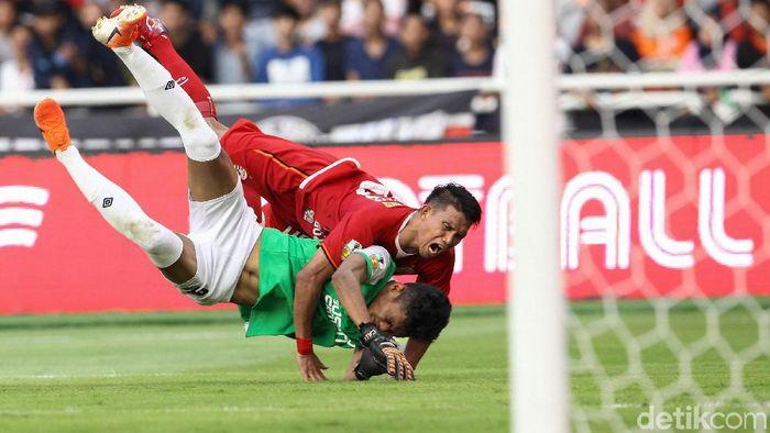 Persija menang tipis atas PSM Makassar 1-0 di leg pertama final Piala Indonesia. (Rifkianto Nugroho/detikSport)