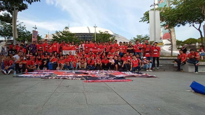 Indomanutd, kelompok suporter Manchester United dari Indonesia, menonton turnamen ICC 2019 (Istimewa)