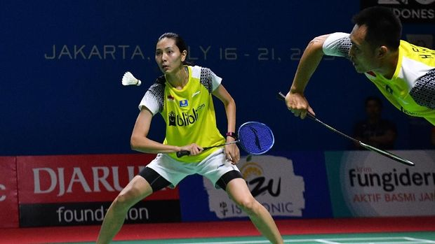 Hafiz/Gloria dikalahkan Praveen/Melati di semifinal Japan Open 2019. (