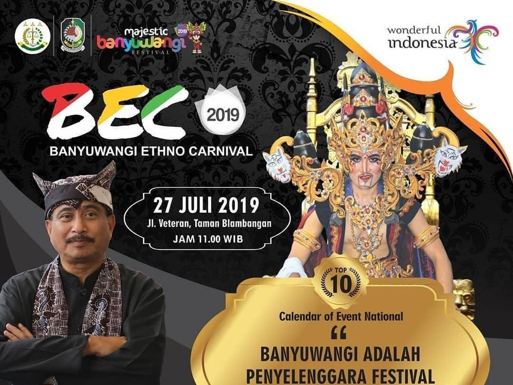 Angkat Tema The Kingdom of Blambangan, BEC 2019 Bakal Lebih Meriah