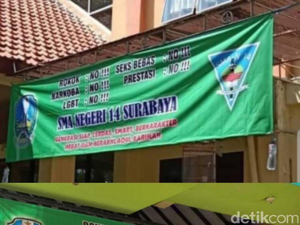 SMAN 14 Surabaya akan Panggil Siswa Penyebar Foto Spanduk Prestasi: No