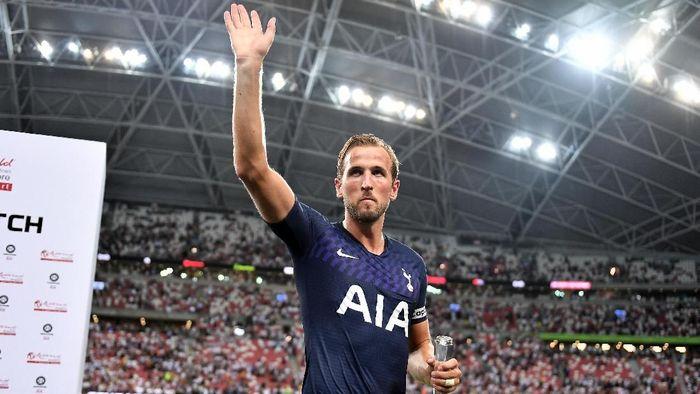 Striker Tottenham Hotspur, Harry Kane, usai laga dengan Juventus di International Champions Cup. (Foto: Thananuwat Srirasant/Getty Images)