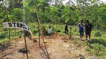 Lokasi Struktur Bata Diduga Situs Kerajaan di Pasuruan Disterilkan