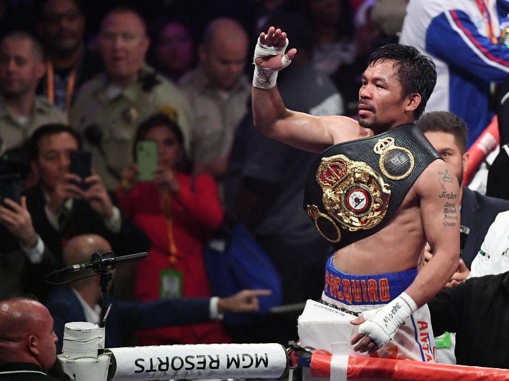 Kemenangan Pacquiao Biasa Saja di Mata Mayweather Jr