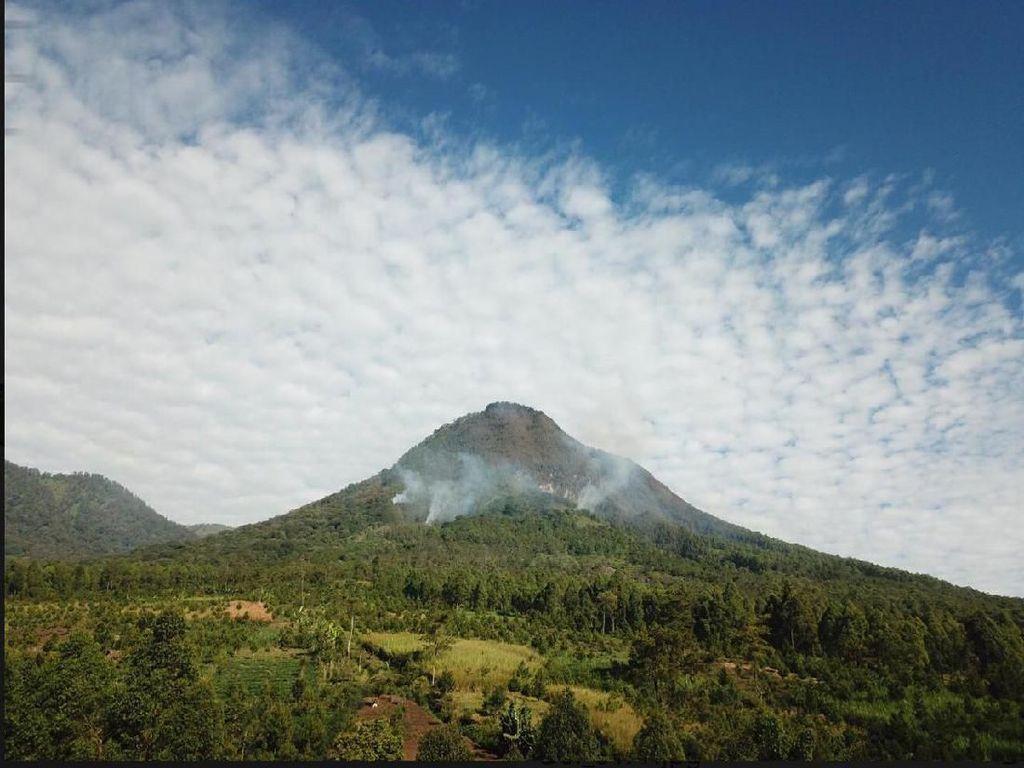 Asap Putih Masih Mengepul di Hutan Gunung Panderman yang Terbakar