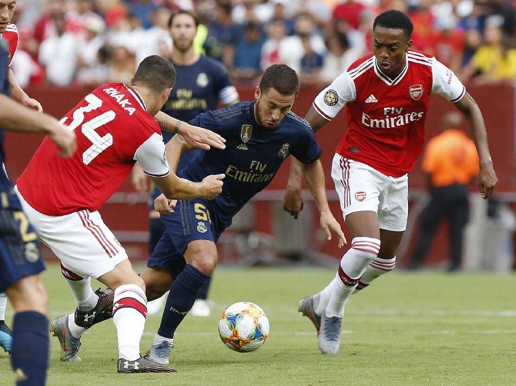 Sama-sama Bermain 10 Pemain, Real Madrid Kalahkan Arsenal