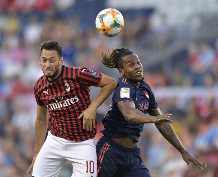 Bayern Munich dan AC Milan bertanding dalam lanjutan International Champions Cup 2019 di Childrens Mercy Park, Rabu (24/7/2019) pagi WIB. Denny Medley-USA TODAY Sports/Reuters.